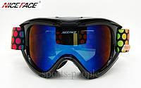 Маска гірськолижна NICE FACE 9054, чорний колір., фото 1