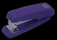 Степлер пластиковий RUBBER TOUCH до 20 аркушів, (скоби №24; 26), фіолетовий