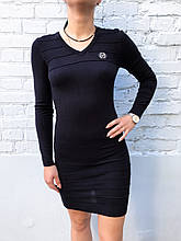 Платье трикотажное теплое женское Philipp Plein синее