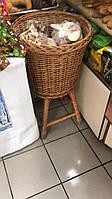 Корзина плетеная багетница на подставке для магазинов, супермаркетов