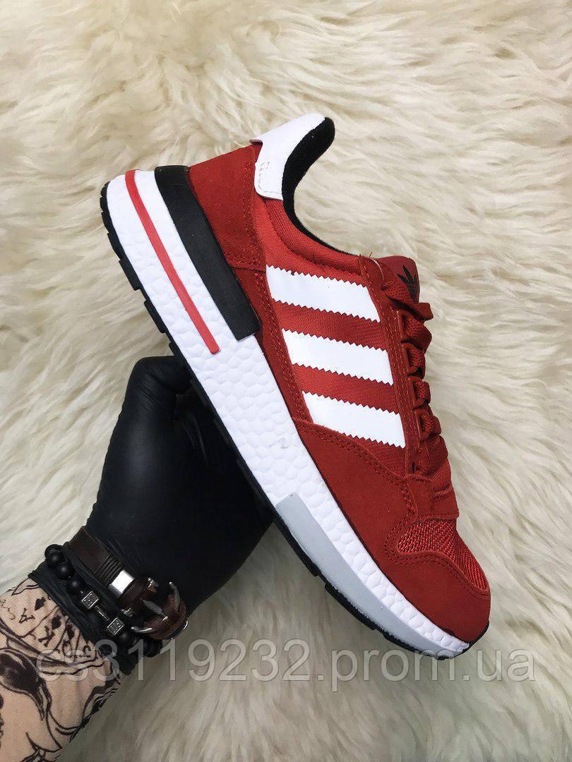 Мужские кроссовки  Adidas ZX 500 Rm (красные)