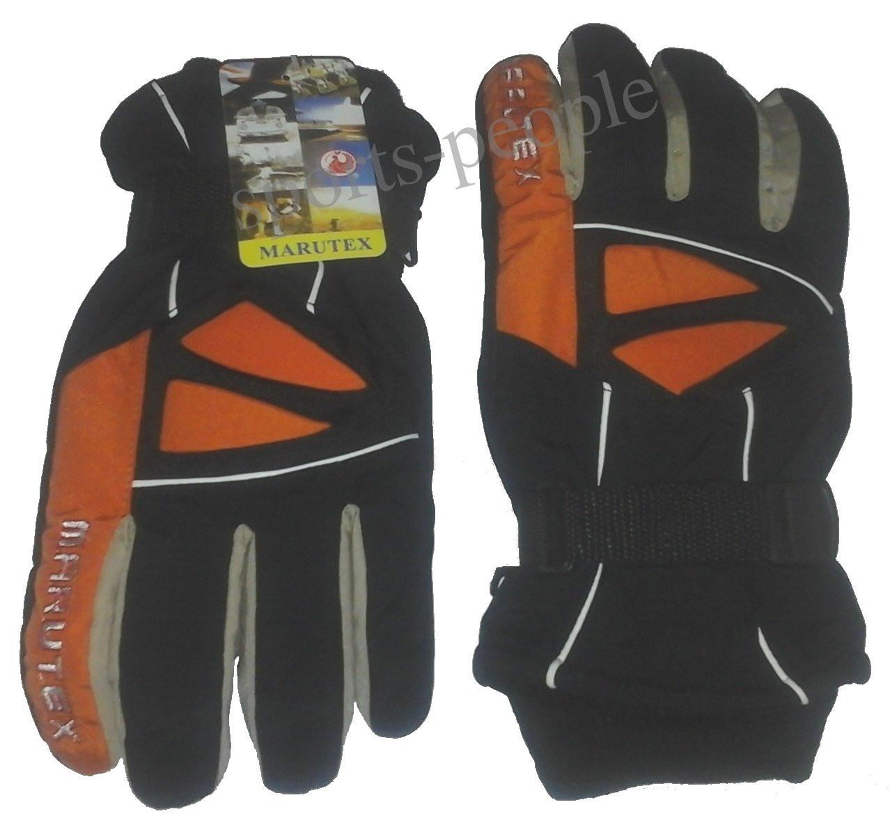 Перчатки горнолыжные Marutex, L, черный+оранжевый+белый цвет.