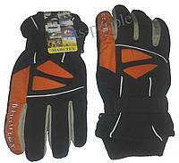 Перчатки горнолыжные Marutex, L, черный+оранжевый+белый цвет., фото 1