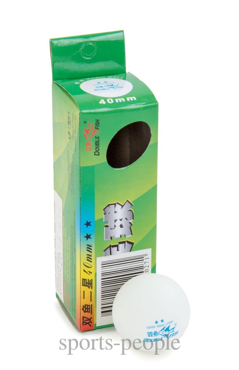 Мячи для настольного тенниса Double Fish 2*, 40 mm, (3 шт.)