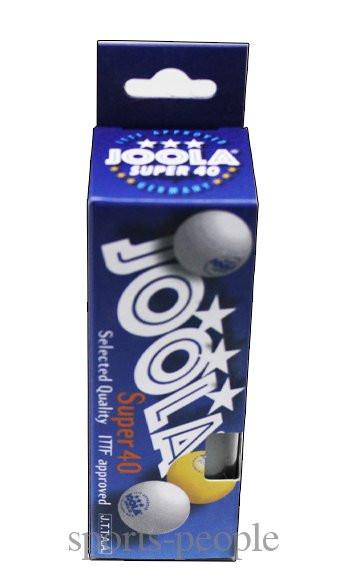 Мячи для настольного тенниса Joola Super 40 (3*), 40 mm, (3 шт.)