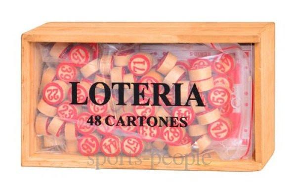 Игра Лото МS 0031 в деревянном футляре, 19*10*6 см
