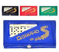 Домино карманное MS 0002 в чехле, 14*8*1,5 см