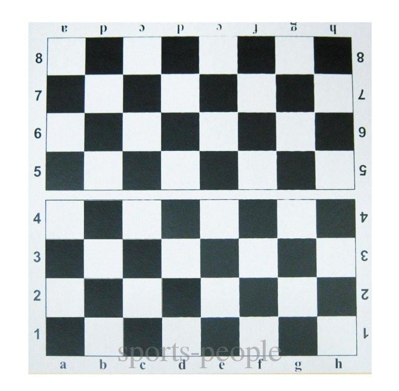 Картонная доска для игр в шашки и шахматы, 35 x 35 см.