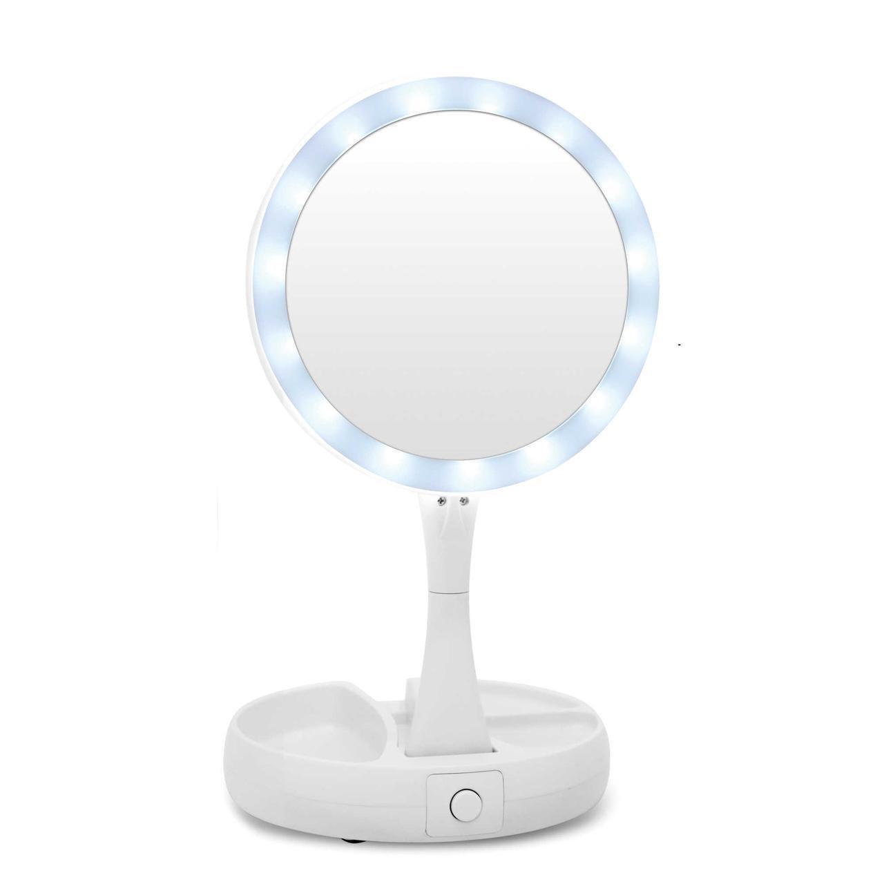 Зеркало для макияжа с LED подсветкой  MakeUp Mirror (15 светодиодов), фото 1