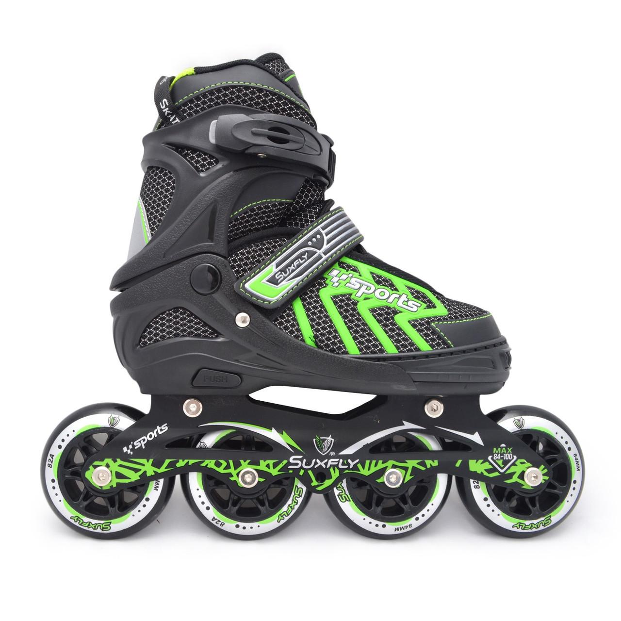 Роликовые коньки/ролики Cool Slide M-6005, колеса 84-90 мм, раздвижные, M(35-38), L(39-42), разн. цвета.