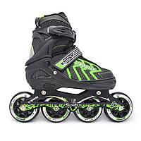 Роликовые коньки/ролики Cool Slide M-6005, колеса 84-90 мм, раздвижные, M(35-38), L(39-42), разн. цвета., фото 1