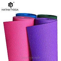 Коврик для йоги/фитнеса: 4 мм, разн. цвета + чехол в подарок!
