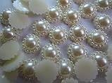 Полужемчуг (бусинка половинка) ажурная 12 мм кремовая перламутровая, 5 шт./уп., фото 3