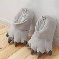 Плюшевые Тапочки Кигуруми Лапы (Grey), фото 1