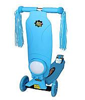 Трехколесный самокат Scooter Maxi music, +фонарик, место для рюкзака, колеса светятся, разн. цвета., фото 1