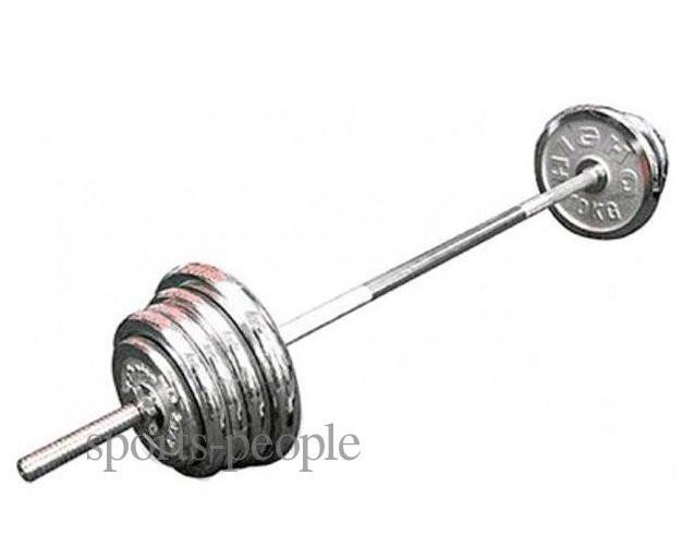 Штанга хромированная, 1.5м, диаметр 2.5см, вес 80 кг