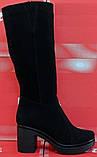 Высокие сапоги женские на каблуке от производителя модель СТС31КД, фото 2