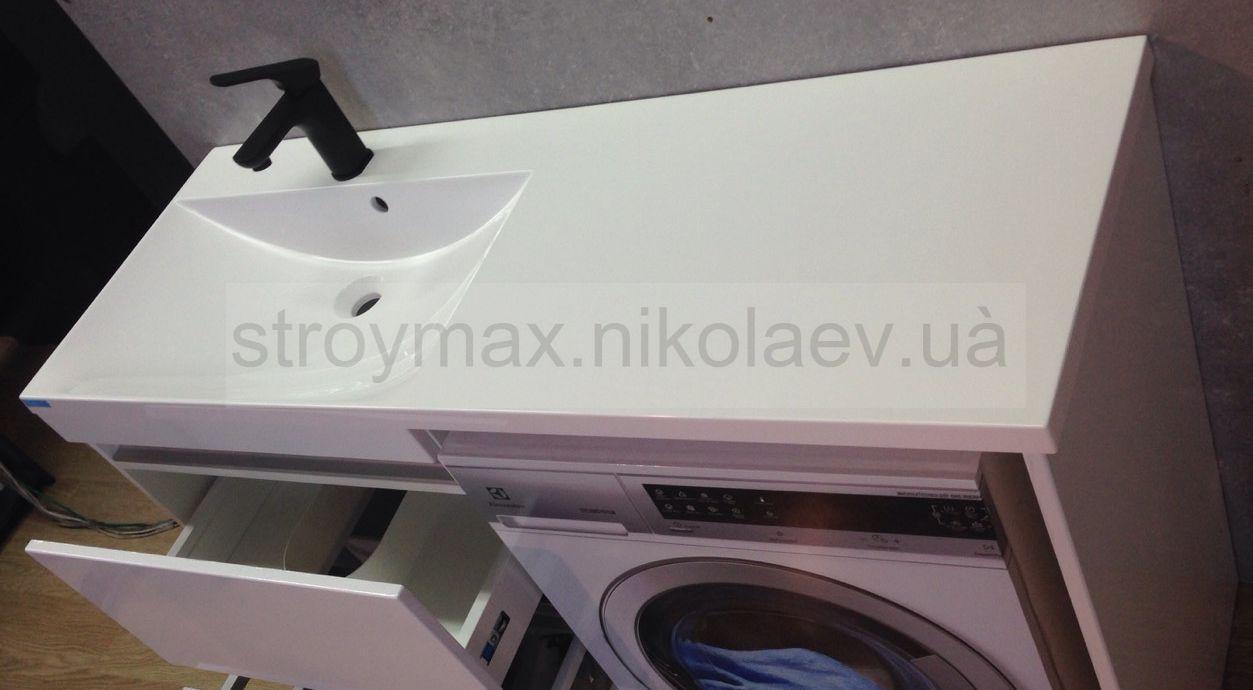 Умывальник над стиральной машиной AMELIA 1245 (1245Х460х120 мм), белый