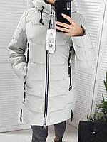 Стильная женская куртка серого цвета S-XXL