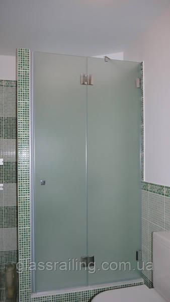 Скляна душова перегородка сатин