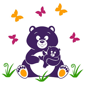 Виниловая Наклейка Glozis Bear (E-117)