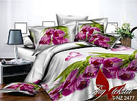 ✅ Полуторный комплект постельного белья с 3D(3Д) эффектом (Полисатин) TAG PS-NZ 2477