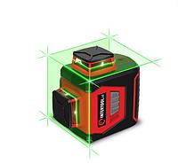 ✅ Уровень лазерный 360 град, 3 лазерные головки, зеленый лазер INTERTOOL MT-3067