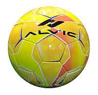 Мяч футбольный Alvic №5, синтетическая кожа, желтый цвет