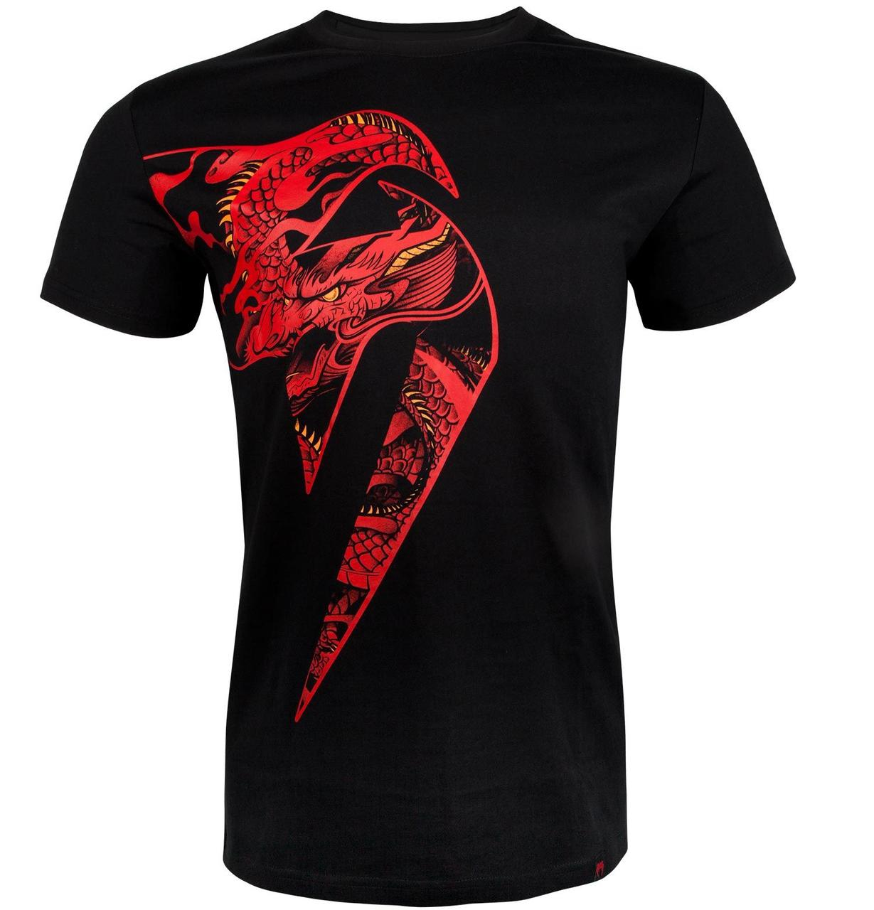 Футболка Venum Giant x Dragon T-shirt Black Red