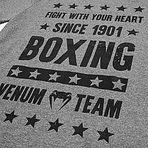 Футболка Venum Boxing Origins T-shirt Grey, фото 2