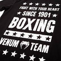 Футболка Venum Boxing Origins T-shirt Black, фото 3