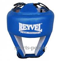 Шлем боксерский/для бокса Reyvel, сверху шнуровка, винил, разн. цвета, L , фото 1