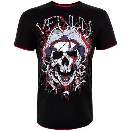 Футболка Venum Pirate 3.0 T-shirt Black Red, фото 2