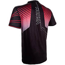 Футболка Venum Sharp 3.0 Dry Tech T-shirt Black Red, фото 3