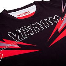 Футболка Venum Sharp 3.0 Dry Tech T-shirt Black Red, фото 2