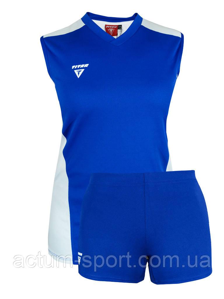 Волейбольная форма Sphere Titar женская (майка и шорты) синий XL