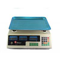 🔝 Магазинные электронные весы для торговли Domotec (MS-228) - для взвешивания продуктов, Белые | 🎁%🚚
