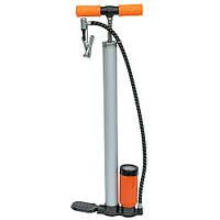 Насос ручний для велосипедів і надувних виробів, +манометр, алюміній.