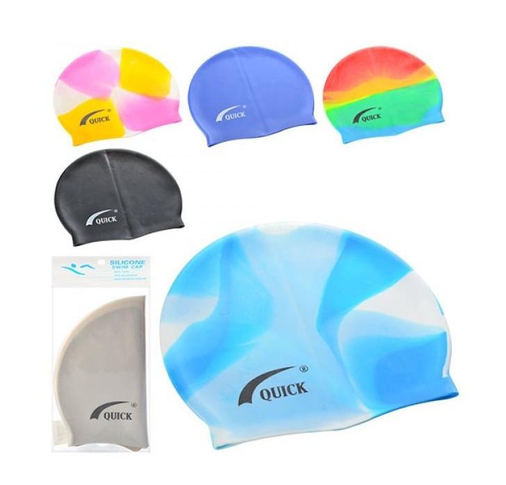 Шапочка для плавання MSW 032, силікон, різном. кольори