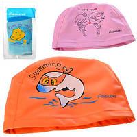 Шапочка для плавання MSW 009, силікон, різном. кольори, фото 1