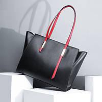 Женская сумка из натуральной кожи черного цвета Блеклайн С902, фото 1