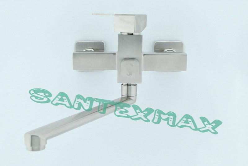 Смеситель для ванны и душа Mixxus Kub 006 euro из нержавеющей стали