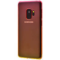 Чехол для Samsung Galaxy S9 (G960) Gradient Design красно желтый