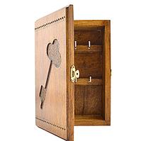 """Ключниця дерев'яна """"Ключик"""", 6 ключів 21х14см на засувці ПП"""