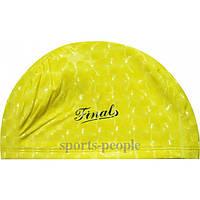 Шапочка для плавания тканевая Finals, полиэстер, прорезиненная, разн. цвета
