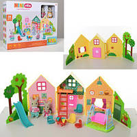 Игровой набор домик для кроликов с детской площадкой CJ 888-005