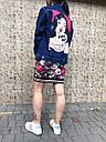 Джинсовая куртка женская с рисунком на спине Kiss Me, фото 3