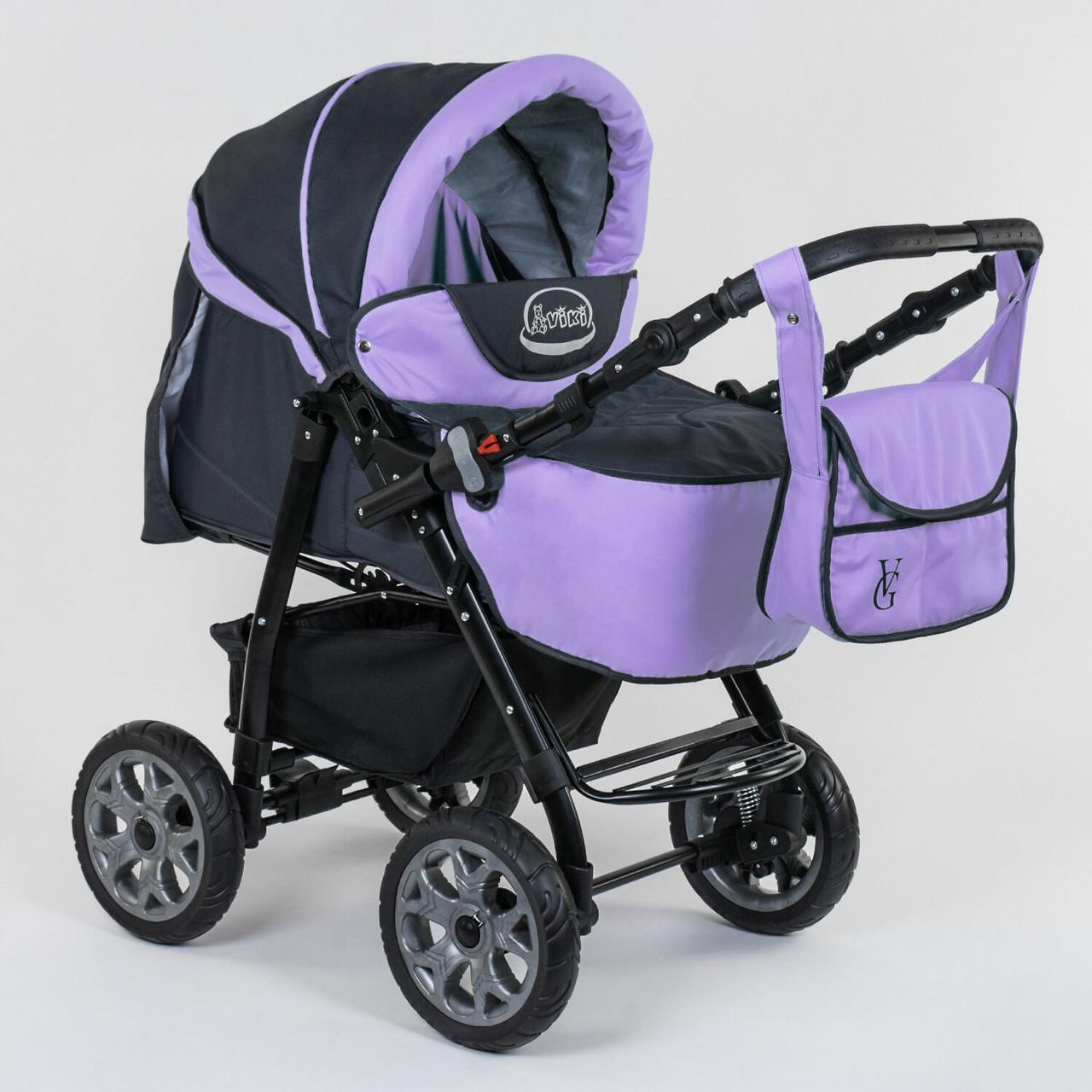 Детская коляска-трансформер Viki 86- С 301 Сиреневая Гарантия качества Быстрая доставка