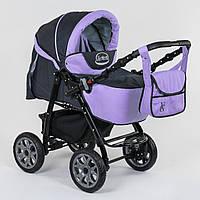 Детская коляска-трансформер Viki 86- С 301 Сиреневая Гарантия качества Быстрая доставка, фото 1