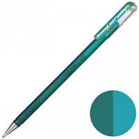 Ручка гелева Pentel двоколірна, 1 мм, зелений+синій металік (К110-DDX)